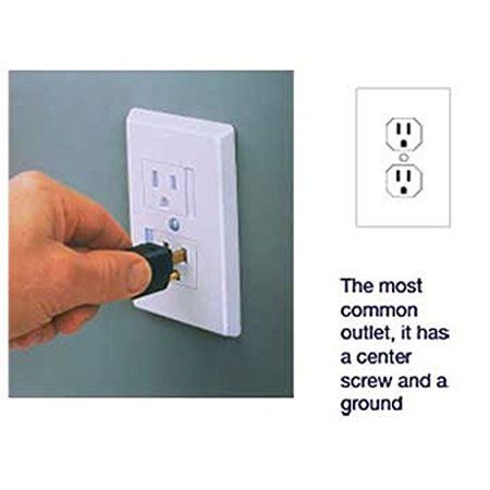 Babyproof Your Outlets With Our Childproof Self-closing Single Screw Outlet Covers 6-pack (White)