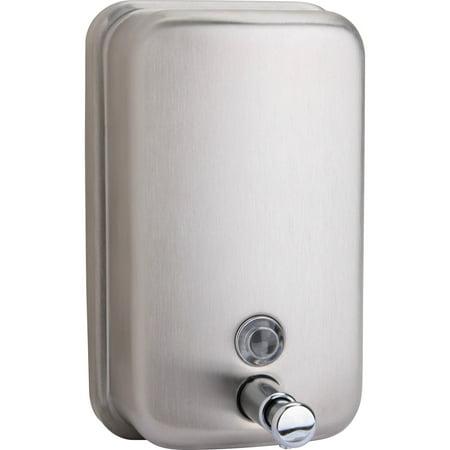 Genuine Joe, GJO02201, Liquid/Lotion Soap Dispenser, 1 / Each, Stainless Steel, 31.50 fl oz Collection Stainless Steel Freestanding Soap