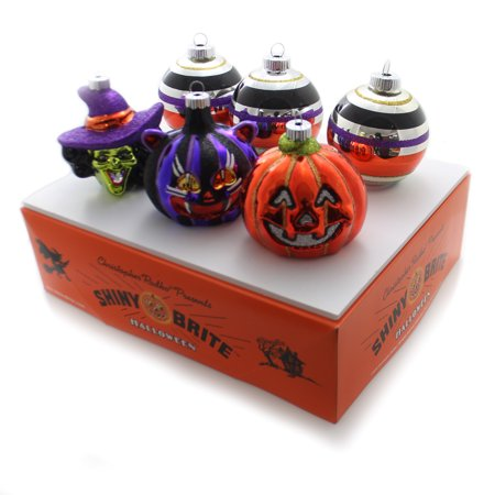 Christopher Radko SHINY BRITE FIGURES & ROUNDS Glass Halloween Ornament (Rodeo Glass)