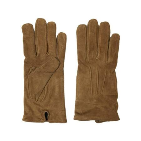 375a5d16d Isotoner - Isotoner Womens Caramel Brown Suede Leather Gloves Lightweight Fleece  Lined - Walmart.com