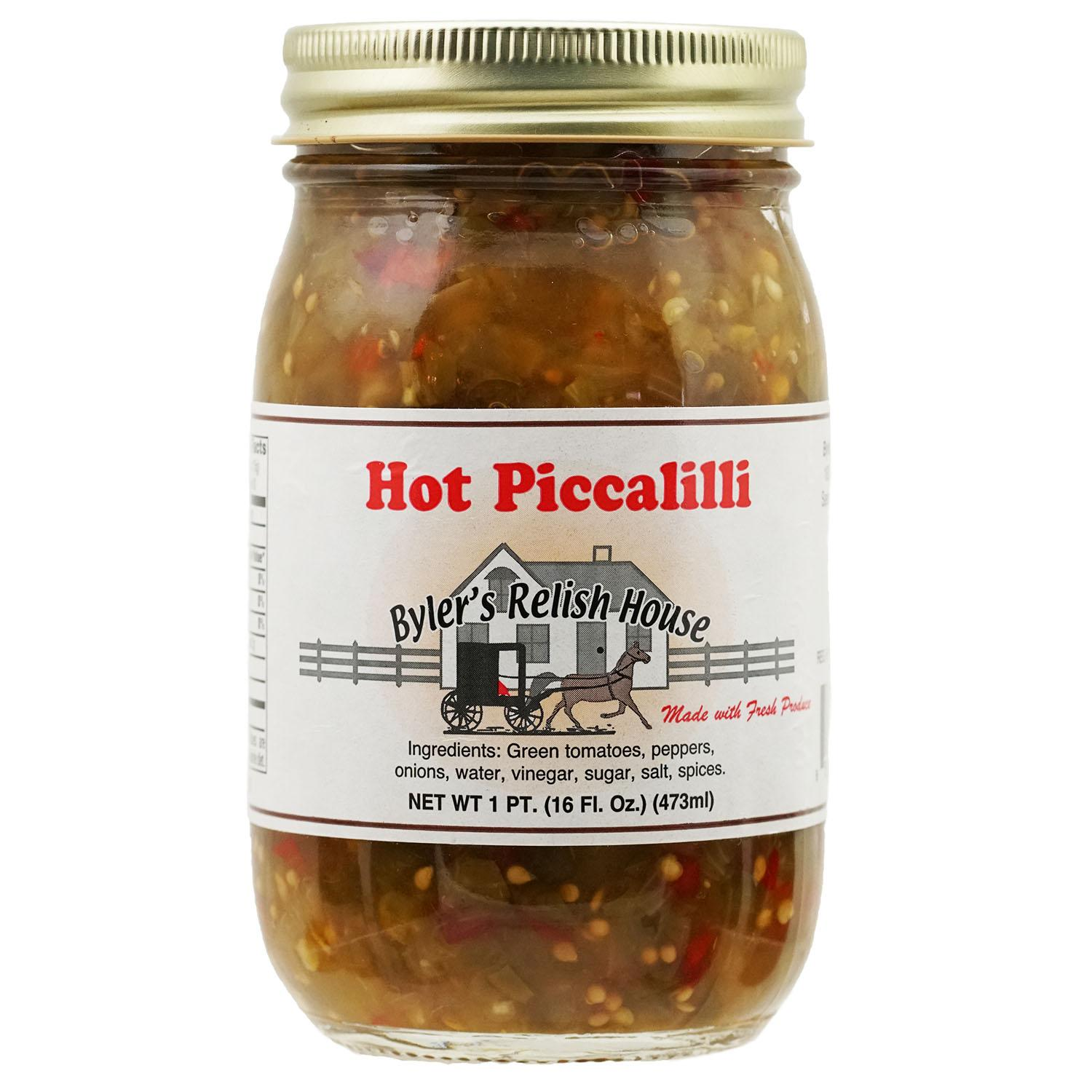 Byler's Relish House Homemade Amish Country Hot Piccalilli 16 oz. by Byler's Relish House
