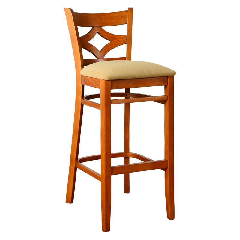 Curtain Back Bar Stool in Cherry