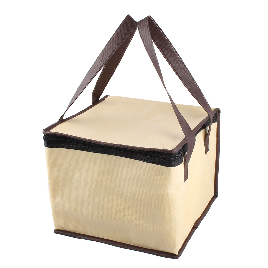 "Non-Woven Fabric 10"" Length Zipper Closure Lunch Box Cooler Tote Bag"