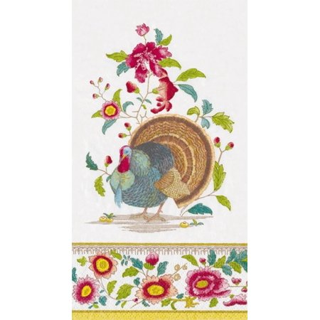 Fall Thanksgiving Paper Guest Napkins 15pk Turkey Setting](Thanksgiving Napkins Paper)