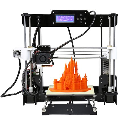 Anet A8 Upgraded High Precision Desktop 3D Printer Reprap i3 DIY Kits with 8GB Memory Card & 1 Roll of PLA (Dtc400e Card Printer)