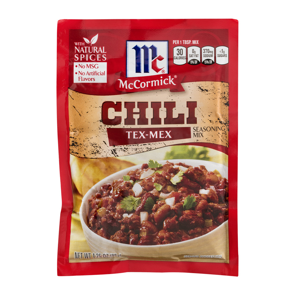 McCormick Chili Tex-Mex Seasoning Mix, 1.25 OZ