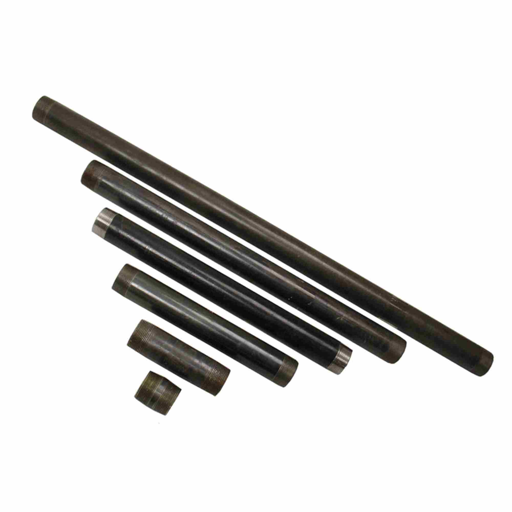 362240-60 5 Pack of Nipples - Black Iron Pipe 1/2 inch x 60 inch long
