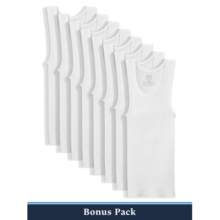 Fruit of the Loom 5+3 Bonus Pack White Tank Undershirts (Little Boys & Big Boys)