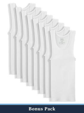 Fruit of the Loom Boys Undershirts, 5+3 Bonus Pack White Tank Undershirt (Little Boys & Big Boys)