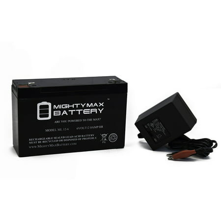 6V 12AH Battery Replaces Best Ride On Cars Thunder Jeep + 6V