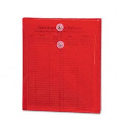 SMD89547 - Smead 89547 Red Poly Envelopes with String-Tie Closure
