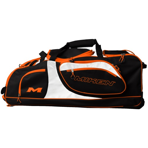 Miken Championship Wheeled Bag MKBG18-CH Black/White/Orange