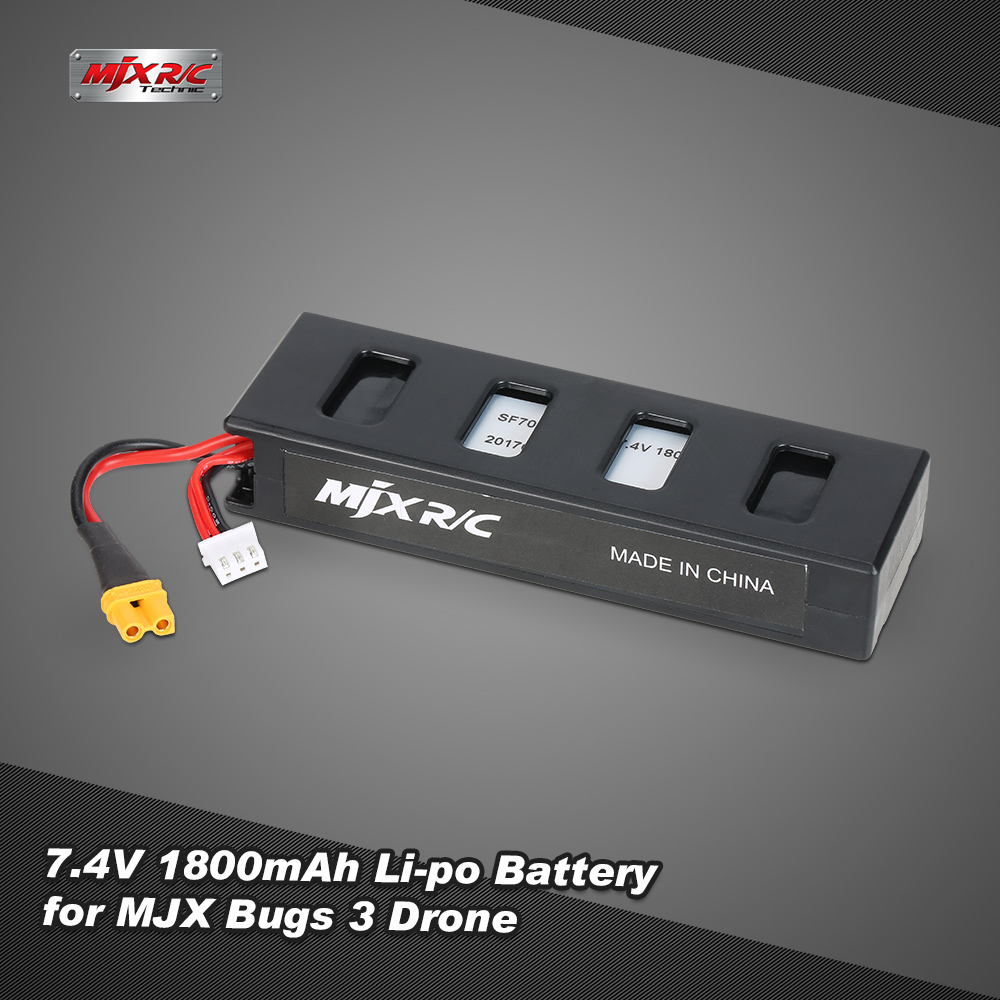 Original MJX 7.4V 1800mAh Li-po Battery for MJX Bugs 3 RC Drone Quadcopter