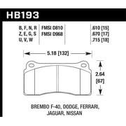Hawk 09-11 Nissan GT-R HPS Street Rear Brake Pads