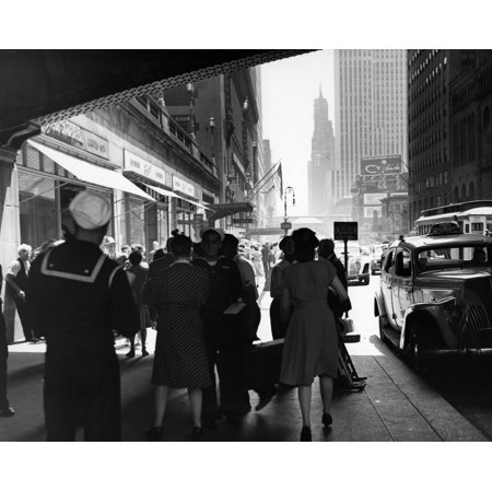 1940s Grand Central Station Men And Women Pedestrians A Sailor In Uniform Taxi And Stores 42Nd Street Sidewalk Nyc Usa](The Halloween Store Nyc)