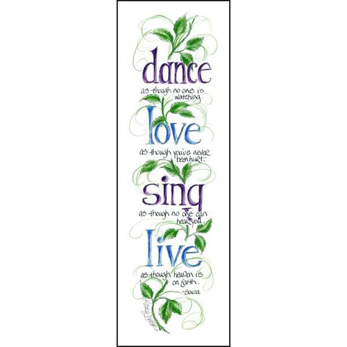 LPG Greetings Life Lines Dance Love Sing Live by Lori Voskuil-Dutter Graphic Art Plaque