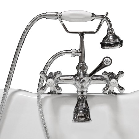 Clawfoot Tub Faucet, Hand-Held Shower, 2