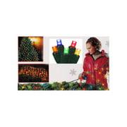 4 x 6 multi color twinkling led net style tree trunk wrap christmas - Twinkling Led Christmas Lights