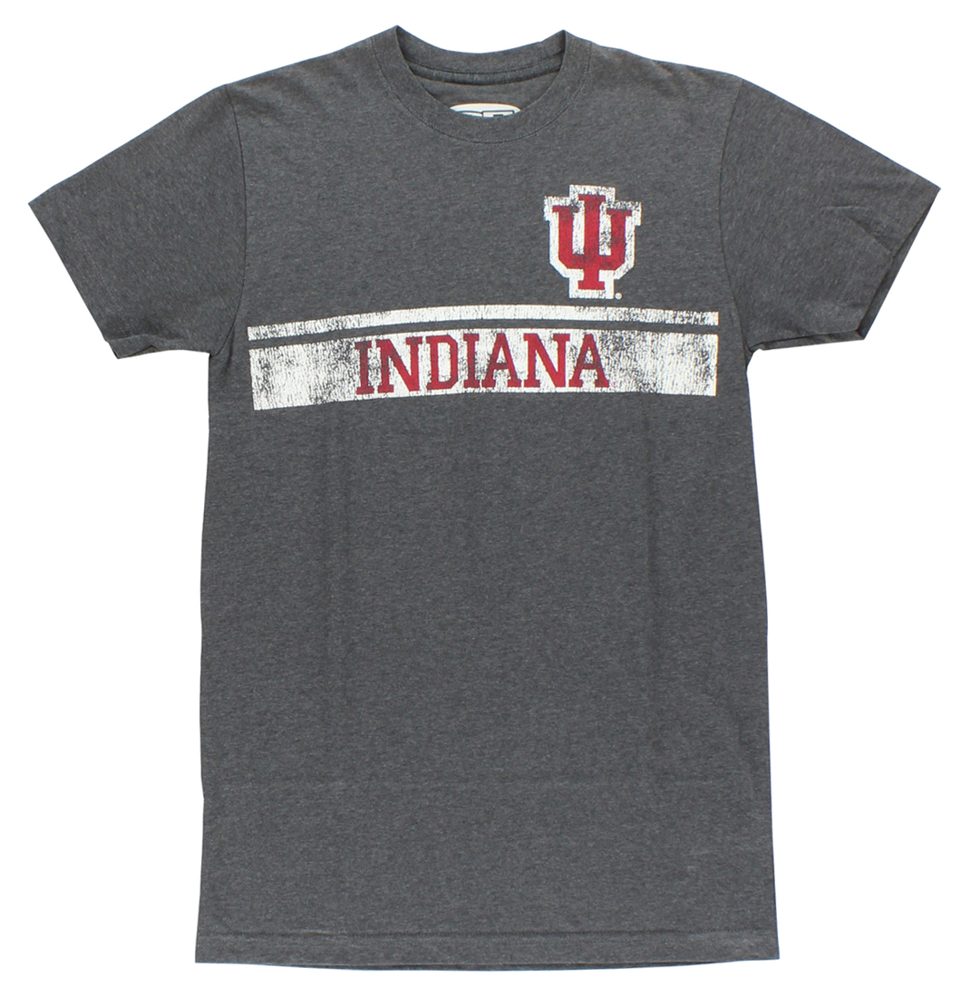 E5 Mens Indiana Hoosiers Baseline Short Sleeve Tee Shirts Charcoal