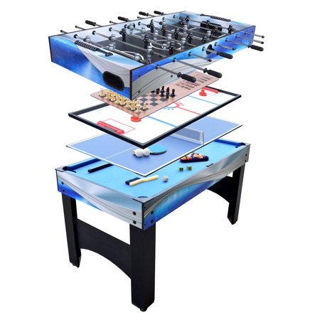 Hathaway Matrix 7-in-1 Multi-Game Table with Foosball, Pool, Tennis, 54-in