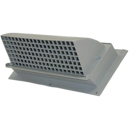 3.25 x 10 in. Heavy Duty Plastic Range Hood Vent - Gray