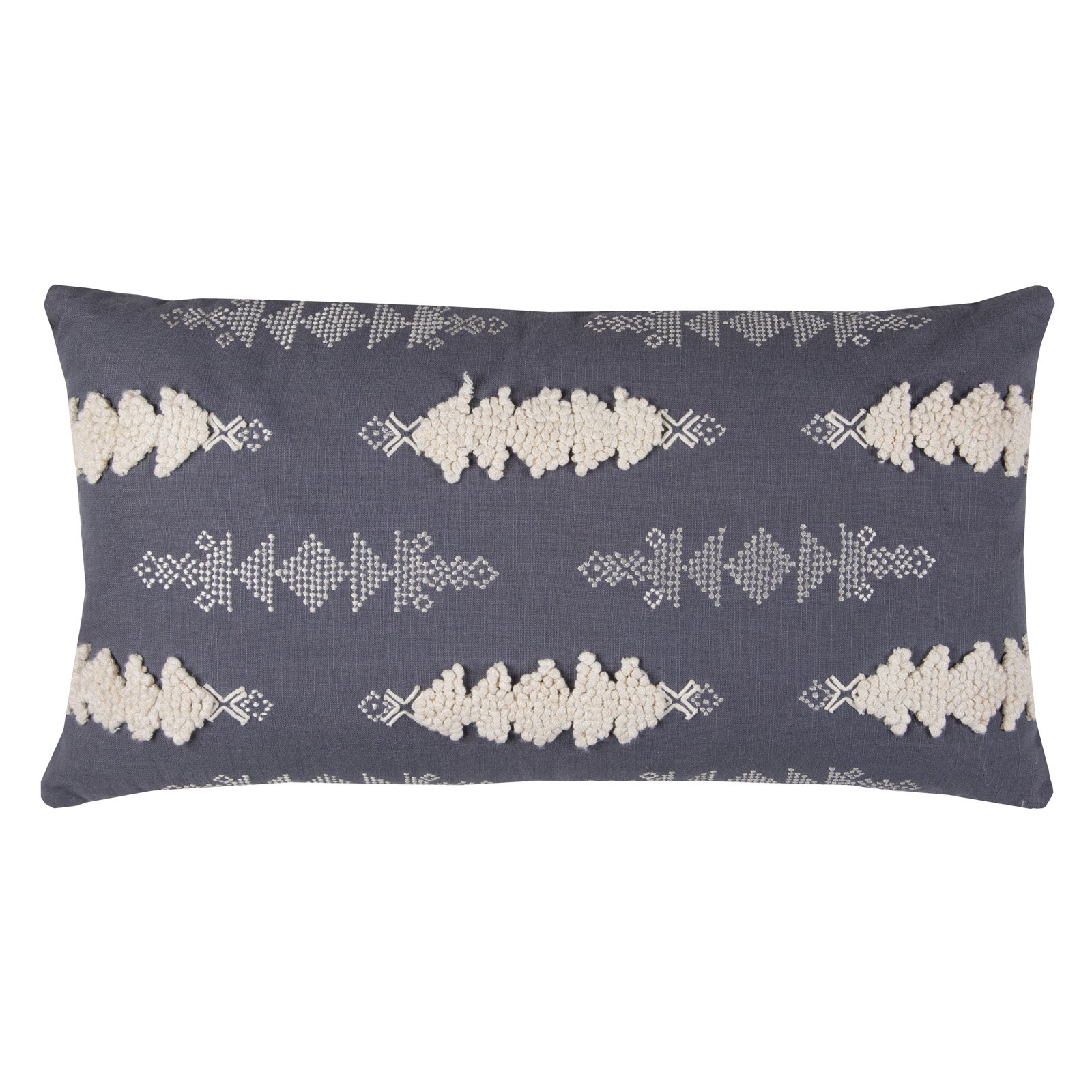 """Rizzy Home Decorative Poly Filled Throw Pillow Arrows 14""""X26"""" Gray"""