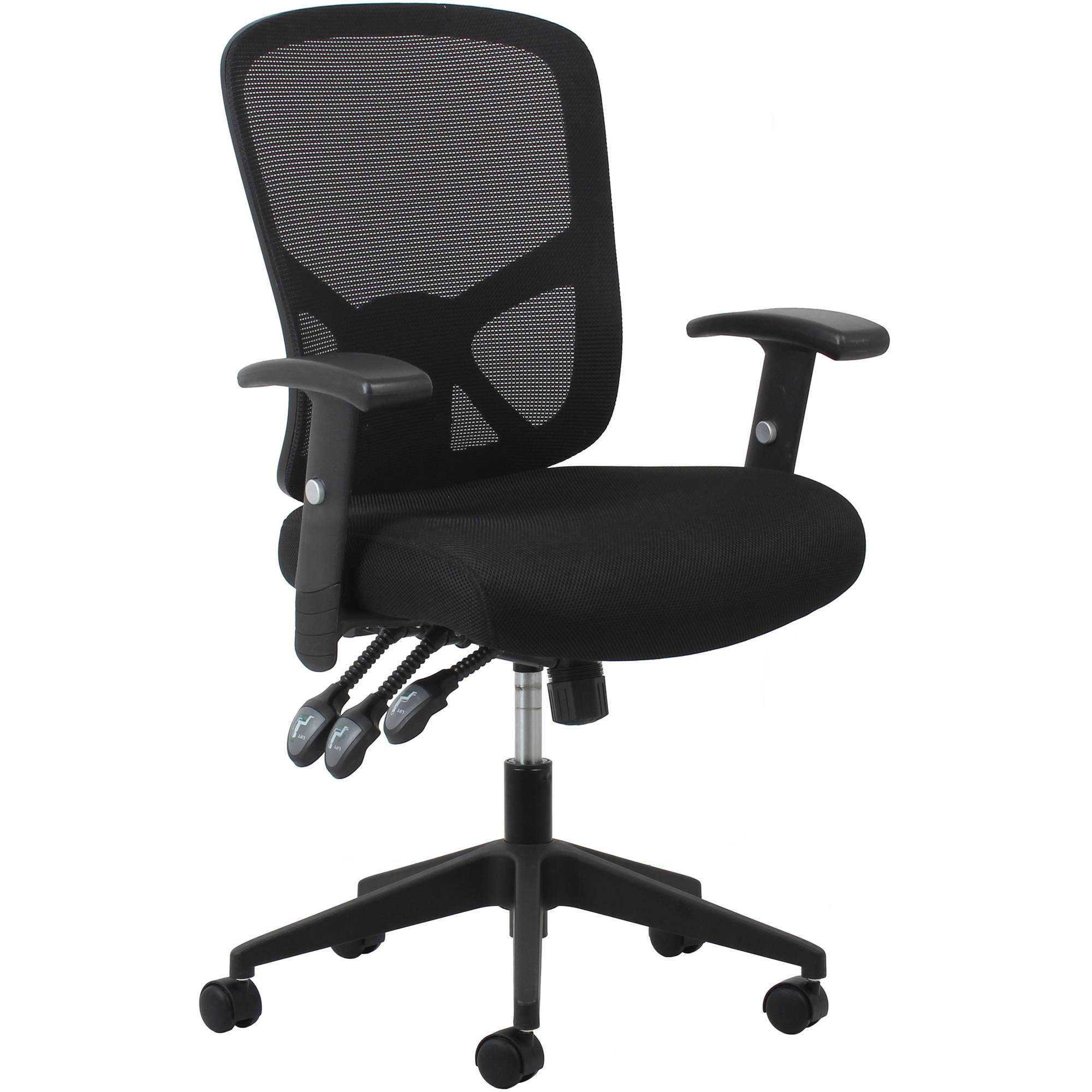 Essentials by OFM 3-Paddle Ergonomic High-Back Mesh Task Chair with Arms and Lumbar Support, Black