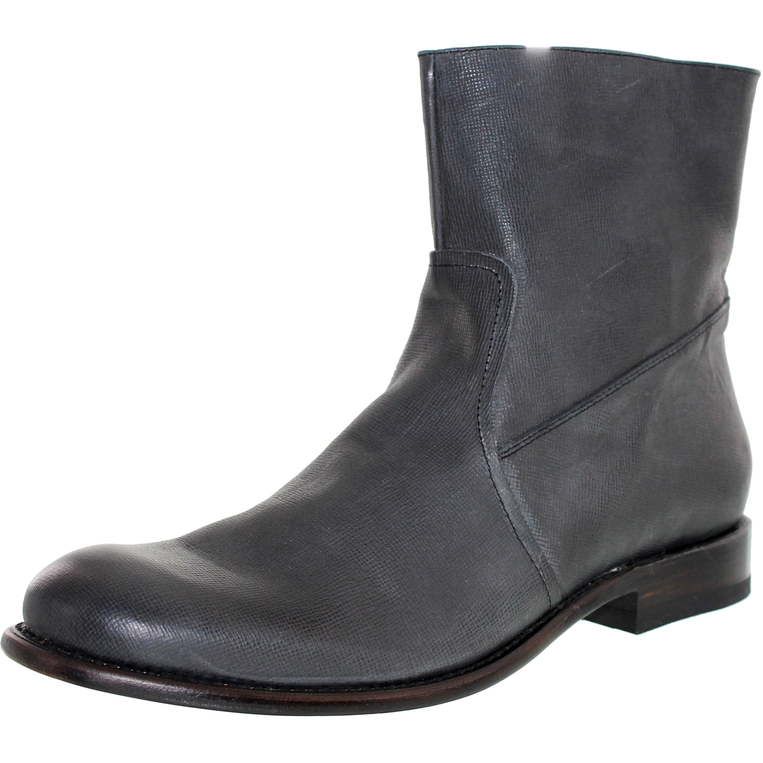 J.D. Fisk Men's Dale Black Ankle-High Leather Boot - 8.5M