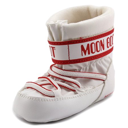tecnica moon boot crib infant round toe canvas white. Black Bedroom Furniture Sets. Home Design Ideas
