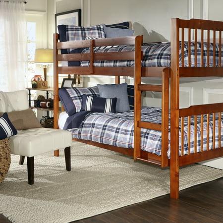 Chelsea Lane Elise Convertible Twin Over Twin Wood Bunk Bed