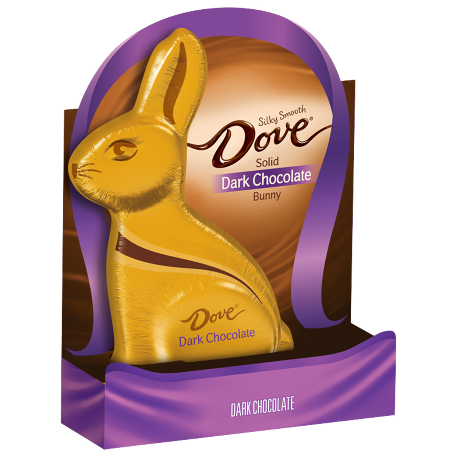Dove, Easter Dark Chocolate Candy Solid Easter Bunny, 4.5 Oz