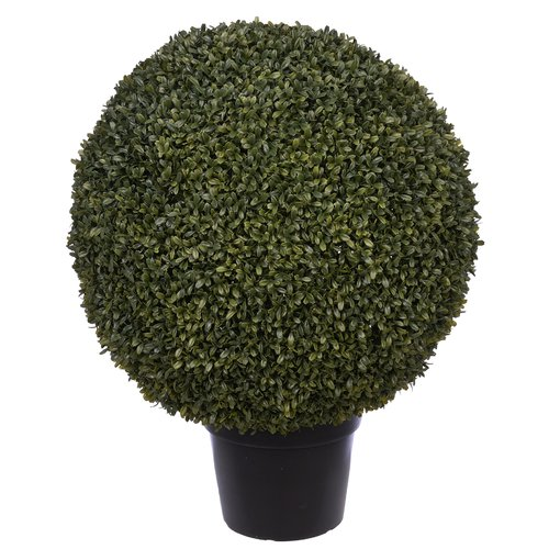 Charlton Home Artificial Ball Floor Boxwood Topiary in Pot