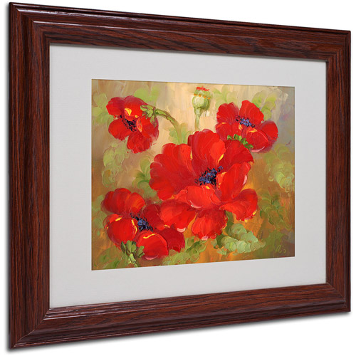 "Trademark Fine Art ""Poppies"" Framed Matted Art"