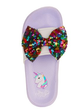 23df5bc658f Product Image Jojo Siwa Girl s Slide with Glitter Footbed   Bow