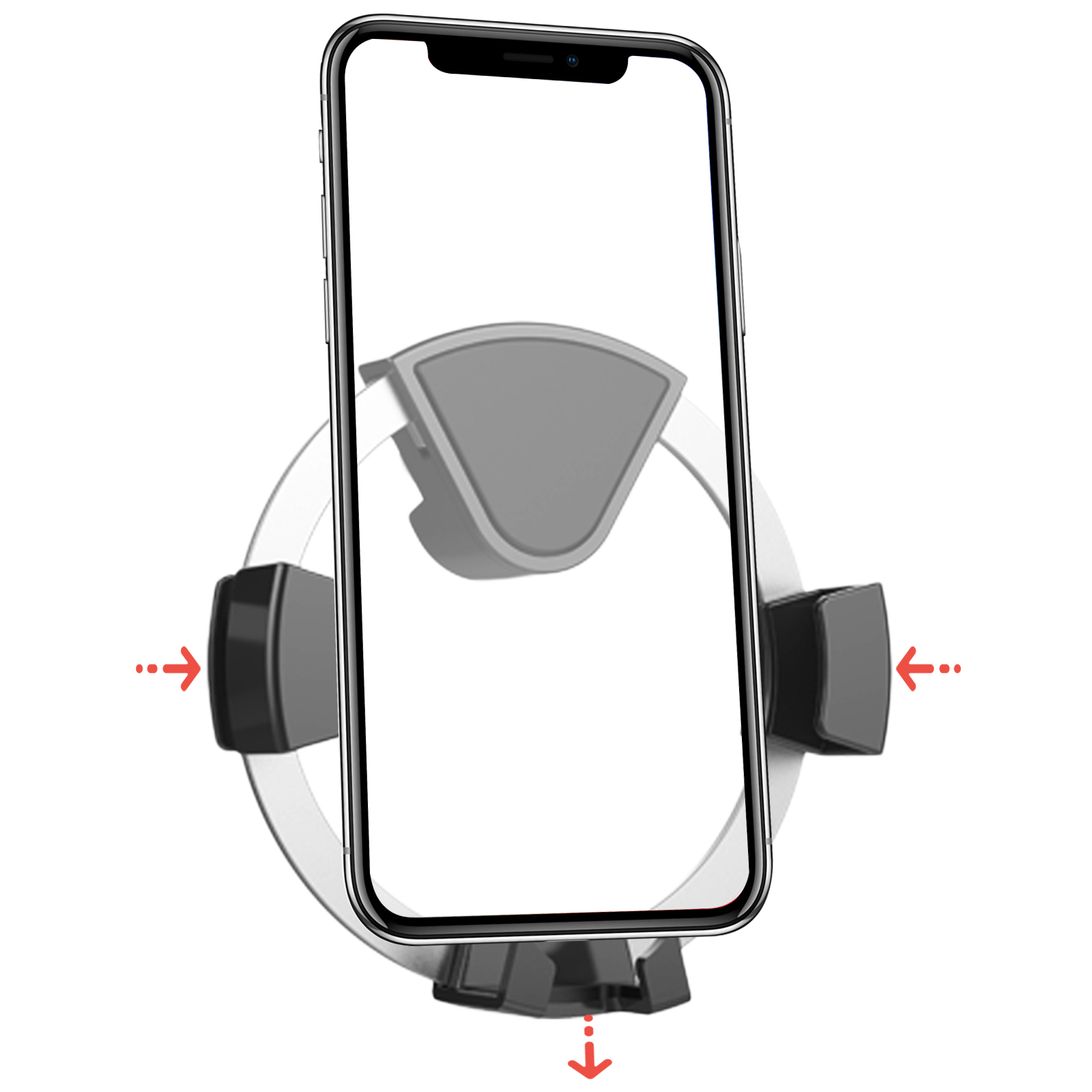 TSV Universal Gravity Car Air Vent Phone Holder Aluminum Mount Stand For iPhone X 8 Samsung S9