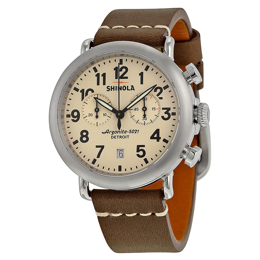 Shinola The Runwell Chrono Cream Dial Mens Watch S0100099