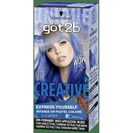 Got2b Creative Semi-Permanent Hair Color, 095 Electric ...