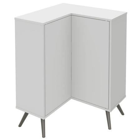 Bestar Small Space Krom Corner Accent (Unfinished Corner Cabinet)