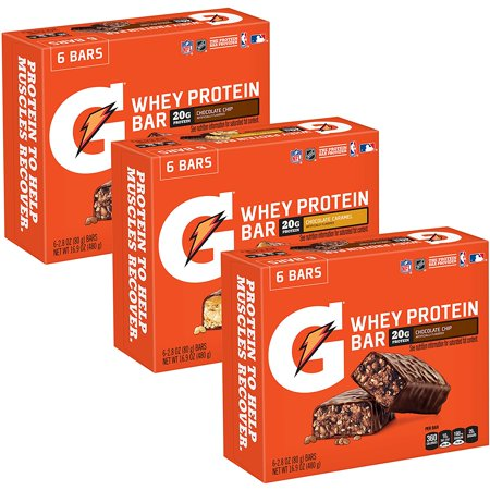 Gatorade Whey Protein Recover Bars, Variety Pack, 18 (Usn Whey Gh All In One Protein Review)