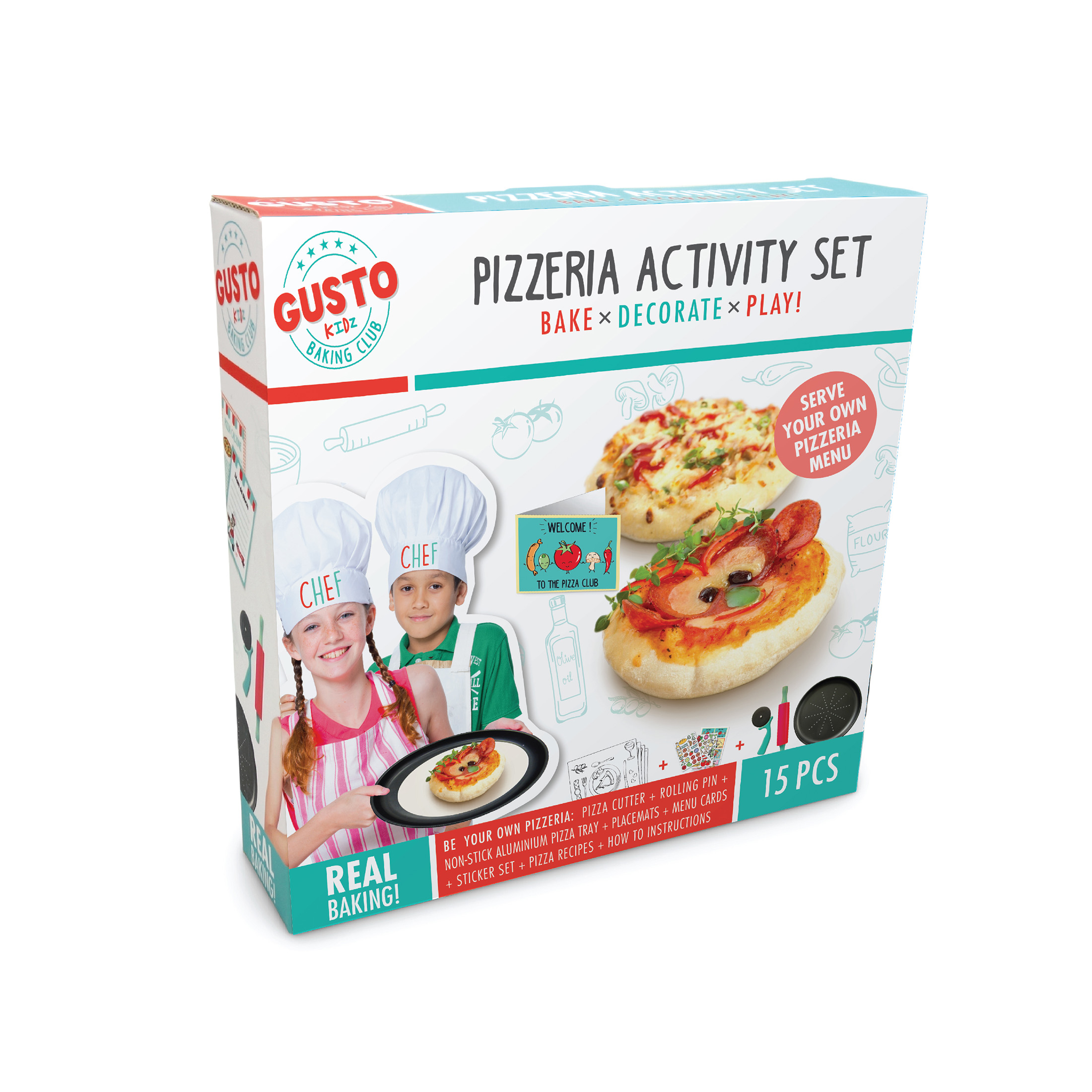 Gusto Pizzeria Activity Set - Bake, Decorate, Play