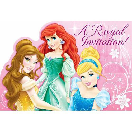 Disney Princess Postcard Invitations (8 Pack) - Party Supplies