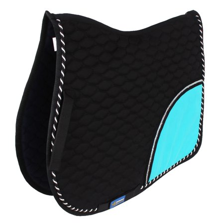 Horse All Purpose Show Cotton Quilted ENGLISH SADDLE PAD Trail Turquoise 72F01R All Purpose English Saddle Pad