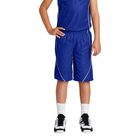 Sport-Tek® Youth Posicharge® Mesh Reversible Spliced Short. Yt565 True Royal Xl - image 1 de 1