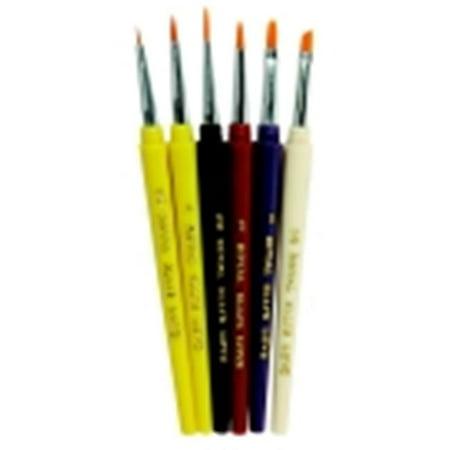 - Royal Brush Detail Golden Taklon Hair Paint Brush Set - Assorted Size, Assorted Color, Set - 6