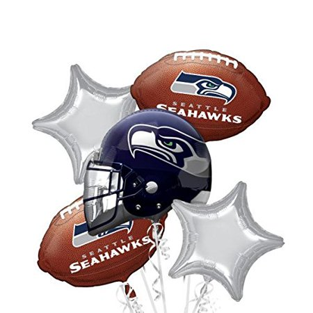 Bouquet Seahawks Party Balloons, Multicolor, Great for parties and other special occasions By Anagram - Seahawks Party