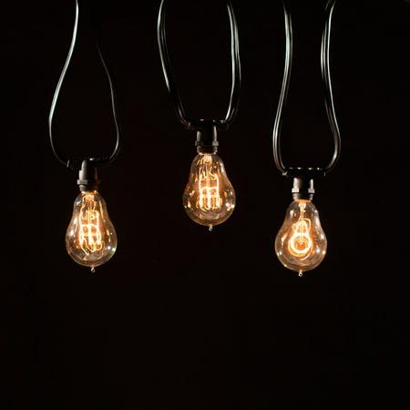 bulbrite string15 e12 25 ft outdoor string light with. Black Bedroom Furniture Sets. Home Design Ideas