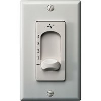 Monte Carlo ESSWC-4 White Extra Heavy Duty Four Speed Wall Control For 212Mm Fans