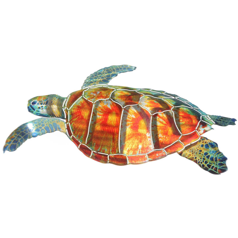 Sea Turtle Wall Art 3d sea turtle metal wall artnext innovations - walmart