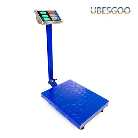 UBesGoo 660 LB Weight Computing Scale Digital Floor Platform Warehouse Shipping Postal