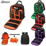 """Spencer DSLR Camera/Video Backpack Waterproof Camera Bag for SLR/DSLR Camera, Lens and Accessories """"Orange"""""""